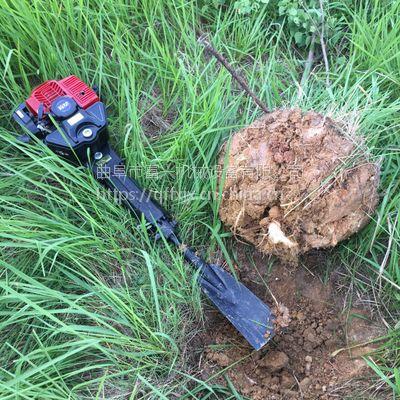 花卉苗木园林起树机 富兴锯齿带土球挖树机 汽油断根起苗机价格