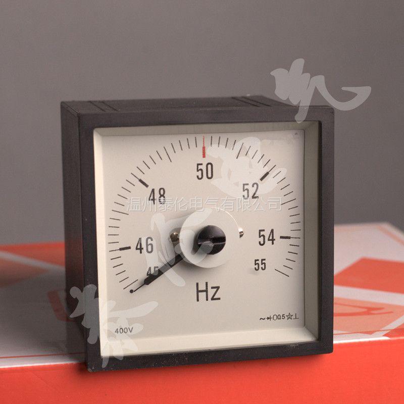 F72船舶电表厂家 61L14-HZ赫兹表 45-55HZ频率表指针式 100V