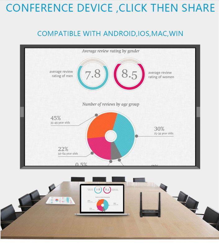教学商务办公会议无线投屏盒子安卓、苹果、平板、笔记本投屏