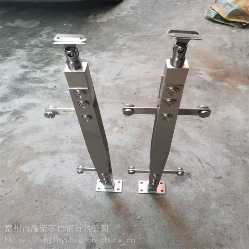 金裕 304不锈钢防护栏支柱 工程栏杆立柱 桥梁护栏 工程扶手 商场立柱
