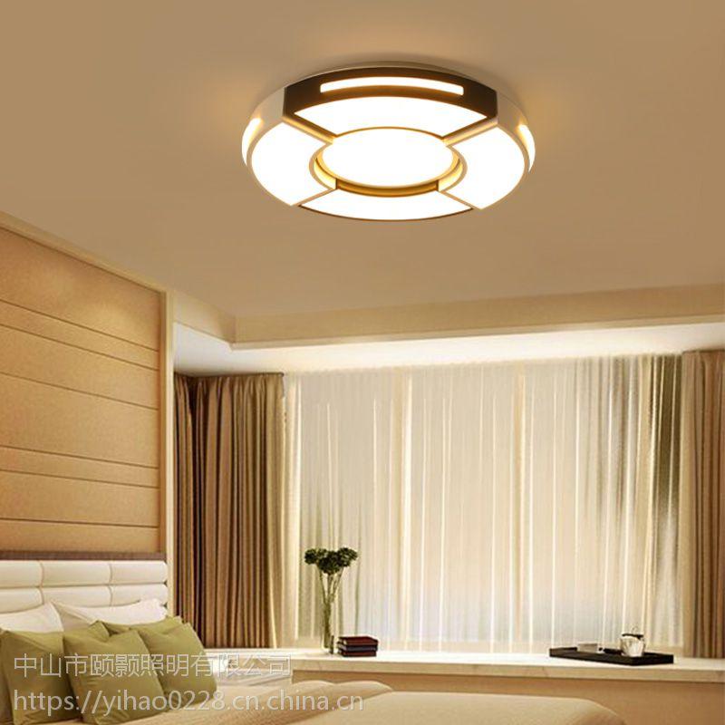 新款现代简约LED客厅卧室书房餐厅百搭圆形亚克力吸顶灯