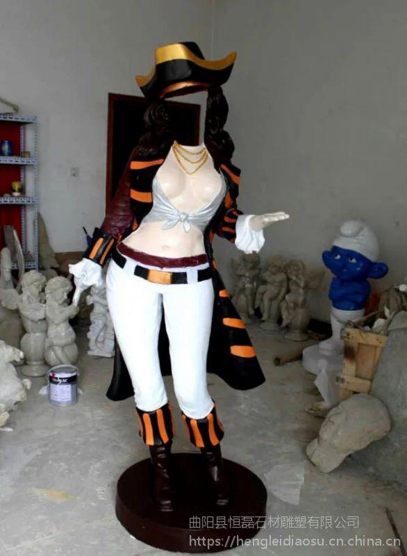 玻璃钢人物雕塑加勒比海盗系列雕塑