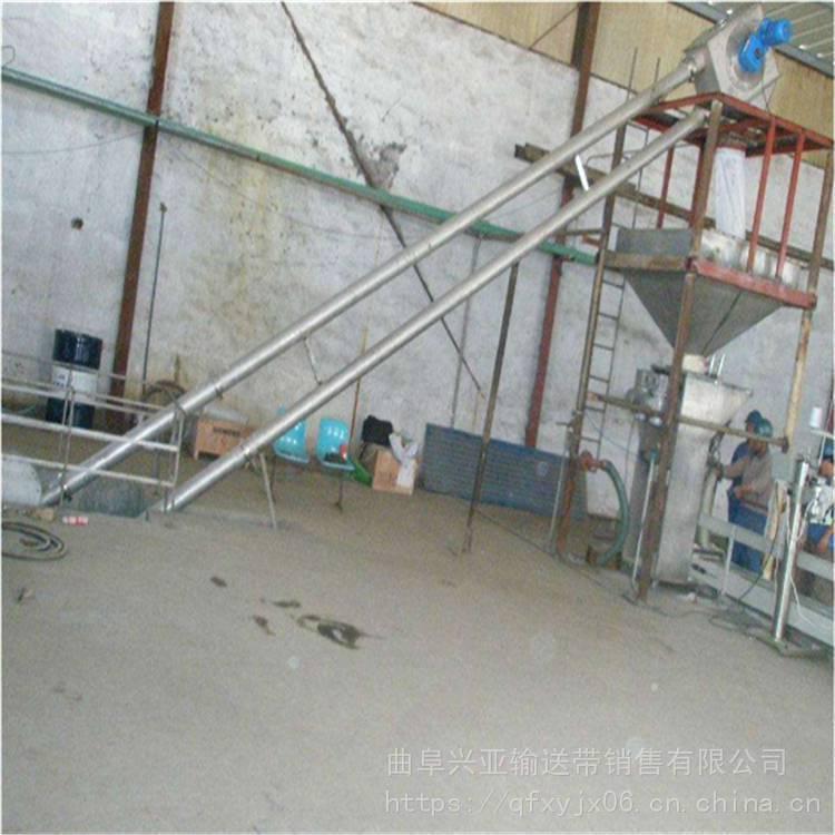 兴亚来图定制管链输送机 进出口不锈钢管链输送机