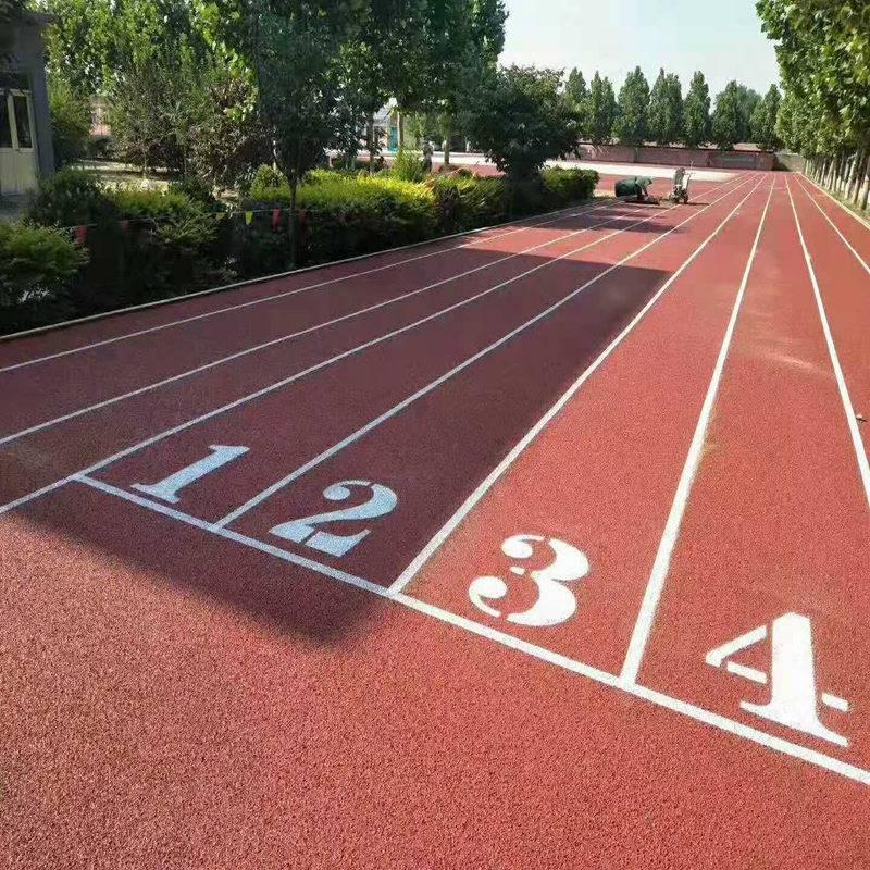 哈尔滨网球场塑胶跑道批发 奥博幼儿园塑胶跑道品质高