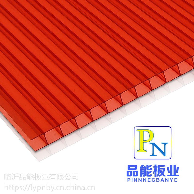 pc12mm8mm双层湖蓝茶色透明阳光板厂家 温室大棚顶棚采光专用