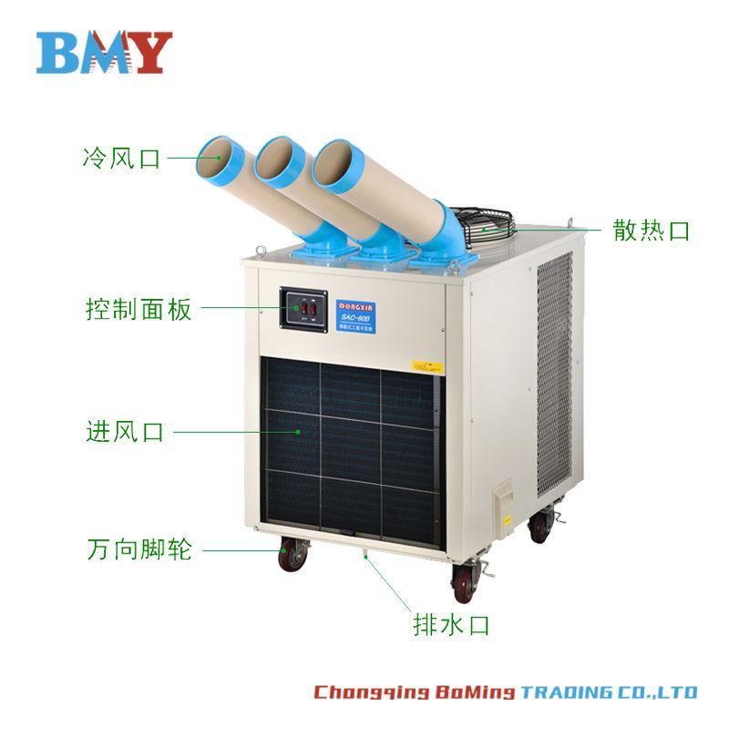 流水线零件快速降温冷却用SAC80B传动带配套冷却工业空调