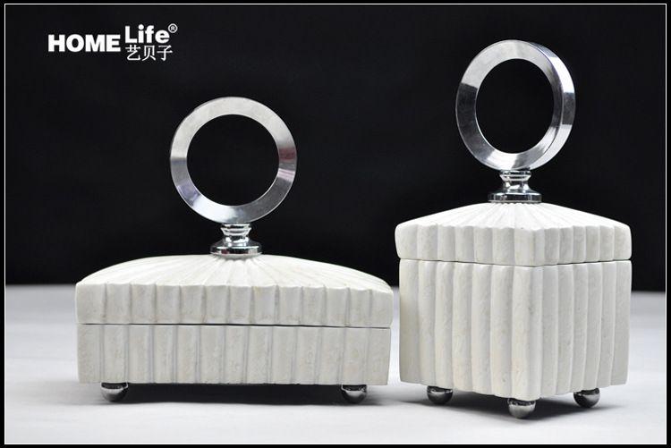 复古珠宝盒欧式摆件高档首饰盒结婚饰品装饰盒现代简约卧室摆设图片