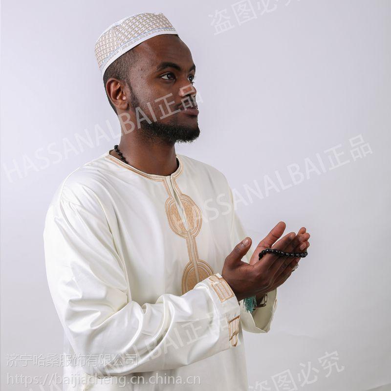 阿拉伯大袍穆斯林长袍回族服装礼拜服