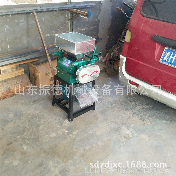 畅销型 熟花生米压胚机 花生碎机器 家用电对辊挤压杂粮破碎机