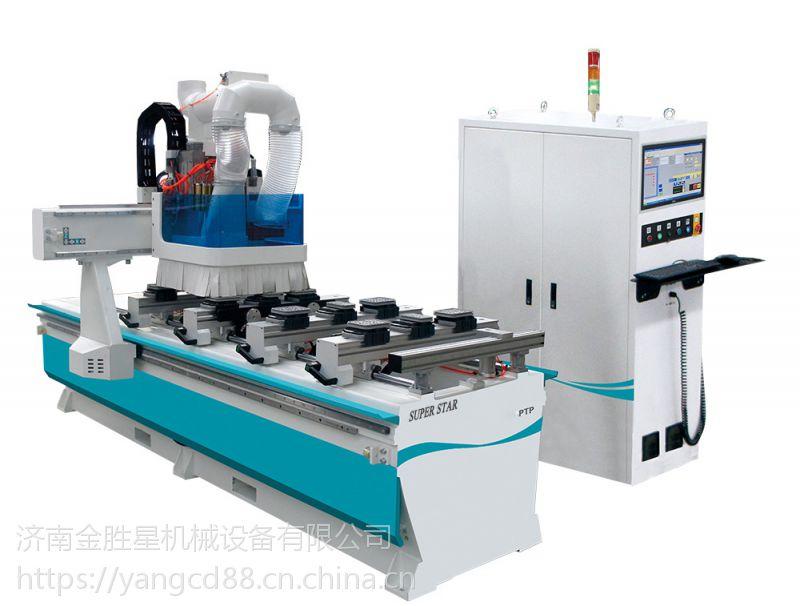 超星PTP单臂排钻五面铣加工中心 定制板式家具数控开料机生产线