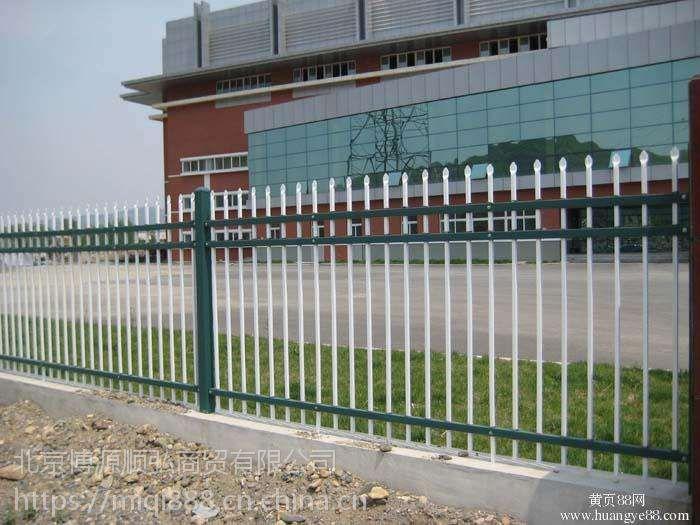 安新街道草坪护栏,Q235安新组装围墙护栏,小区庭院弯弧围栏,锌钢京式隔离栏HC
