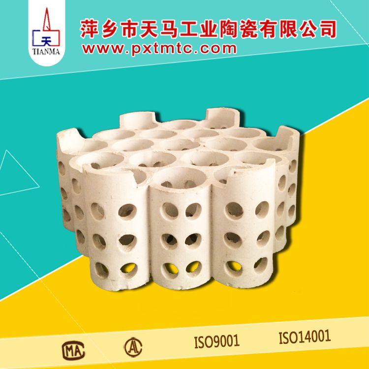 大量批发陶瓷填料 陶瓷多孔洗涤环填料