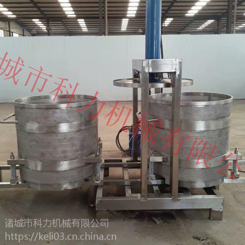 双桶轮换式酱菜压榨脱水机 _压榨萝卜条 酒厂使用压榨设备?