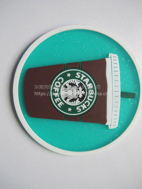 PVC软胶卡通杯垫 橡胶隔热餐垫 塑胶防滑杯垫