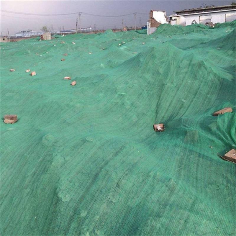 安平工地盖土网 2-6针防尘网 绿色盖煤土
