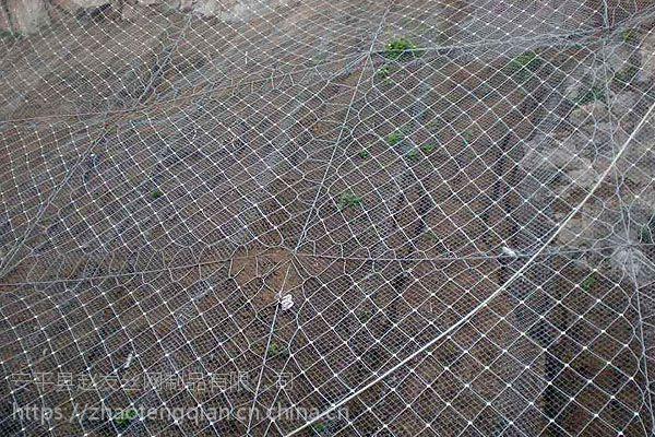 山坡支护网厂家 落石阻拦 拦石网 钢丝绳网 勾花网