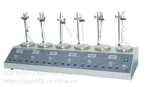 中西(LQS)多头磁力加热搅拌器(数显) 型号:CN60M/HJ-6A库号:M133948