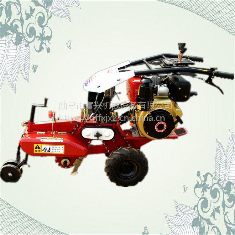 大葱种植封葱机 富兴牌小型果园开沟培土机 农用松土除草田园管理机视频