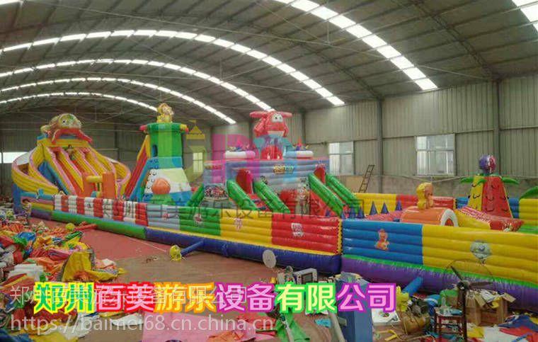 陕西渭南梦幻迪士尼陆地闯关充气城堡,质量保障,实力推荐