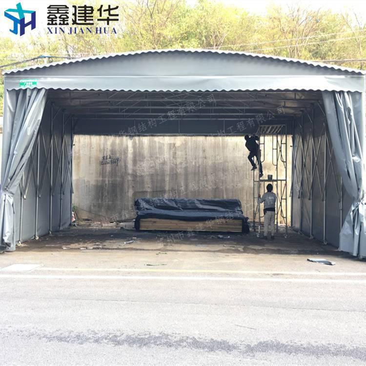 上海浦东新区伸缩雨棚布 移动雨蓬 折叠推拉蓬细节图 遮阳篷厂家直销