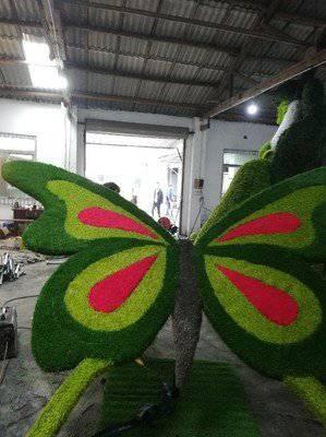 佛甲草绿雕造型 五色草雕塑造型 绿雕立体雕塑卡通造型