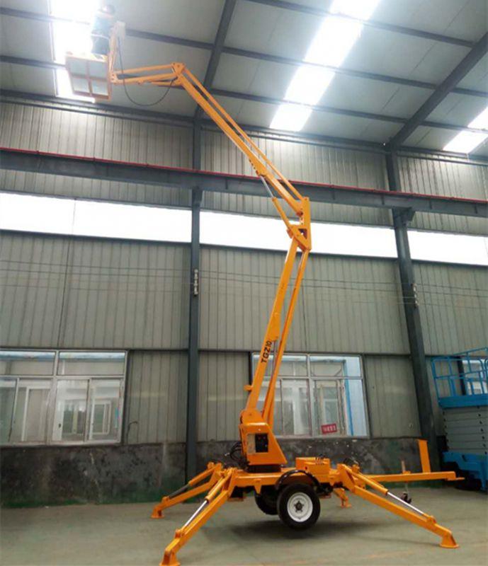 厂家直销TGZ-8M拖车折臂式升降机 牵引移动式升降作业车