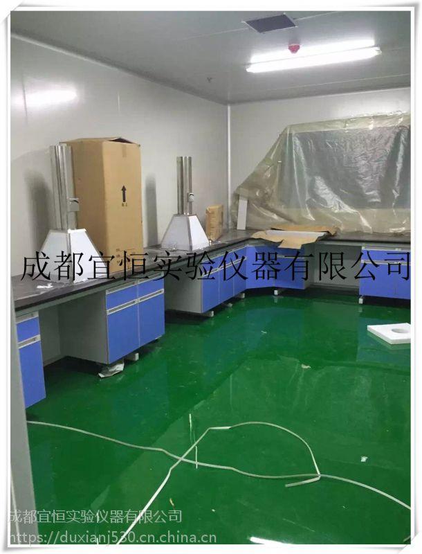 四川钢木实验台工作桌生产厂家成都实验边台中央台实验桌试剂架