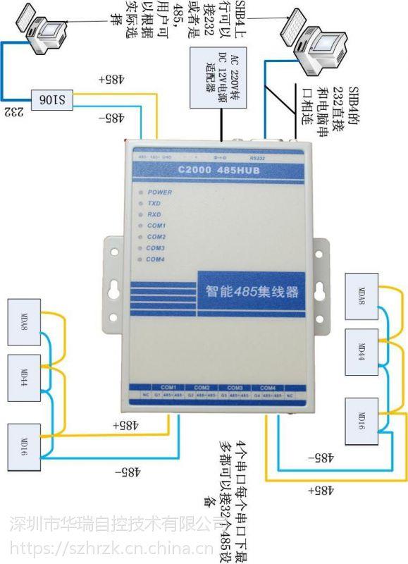 C2000SHB4康耐德品牌RS485集线器分配器共享器HUB