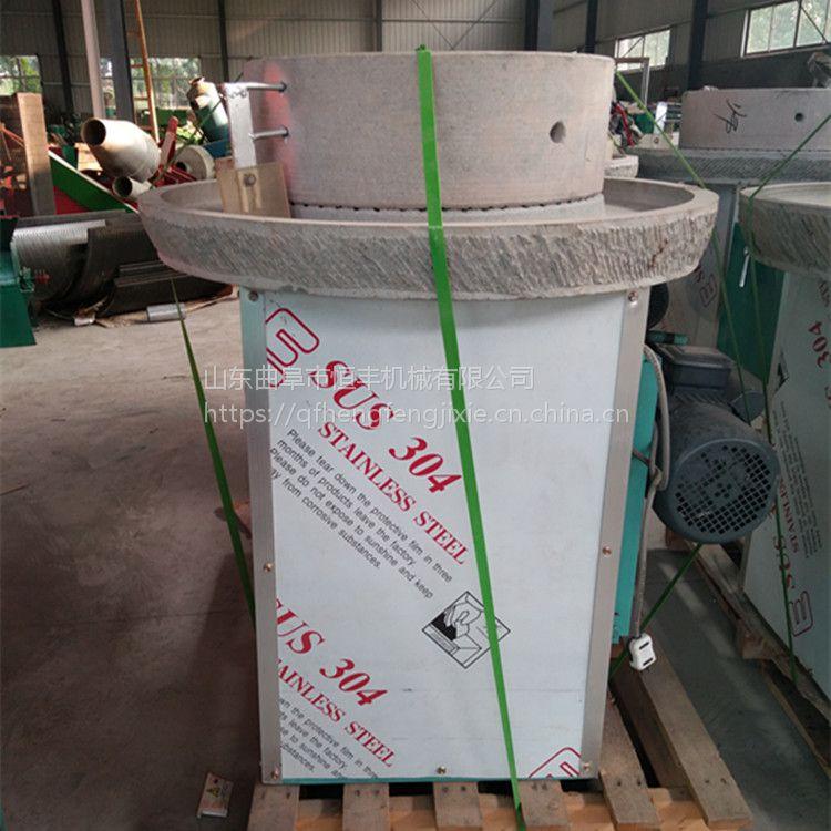 河北省玉米大米小麦面粉石磨机价格 磨坊专用电动面粉石磨