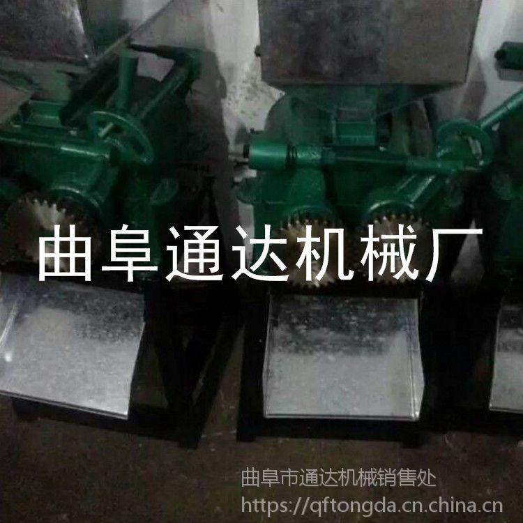 花生碎破碎机定期保养周期是多少 通达 榨油专用黄豆挤扁机 五谷扎机