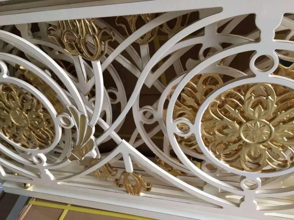 铝艺立体雕刻楼梯订做加工浙江 别墅高档楼梯护栏厂家