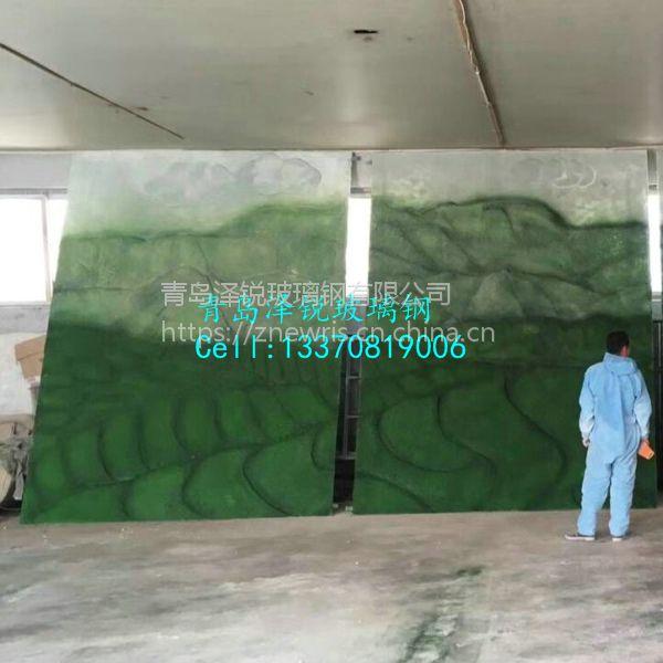 玻璃钢彩绘浮雕茶马古道
