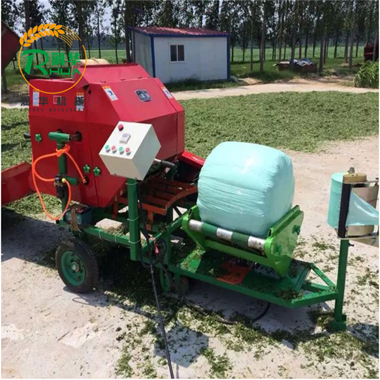 水分充分饲草打捆机 营养保存含量高 青贮饲料打捆包膜机