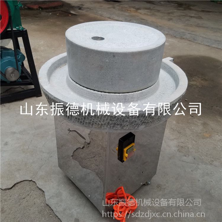 促销 花生酱电动石磨机 豆腐坊加工石磨豆浆机 米浆磨 振德