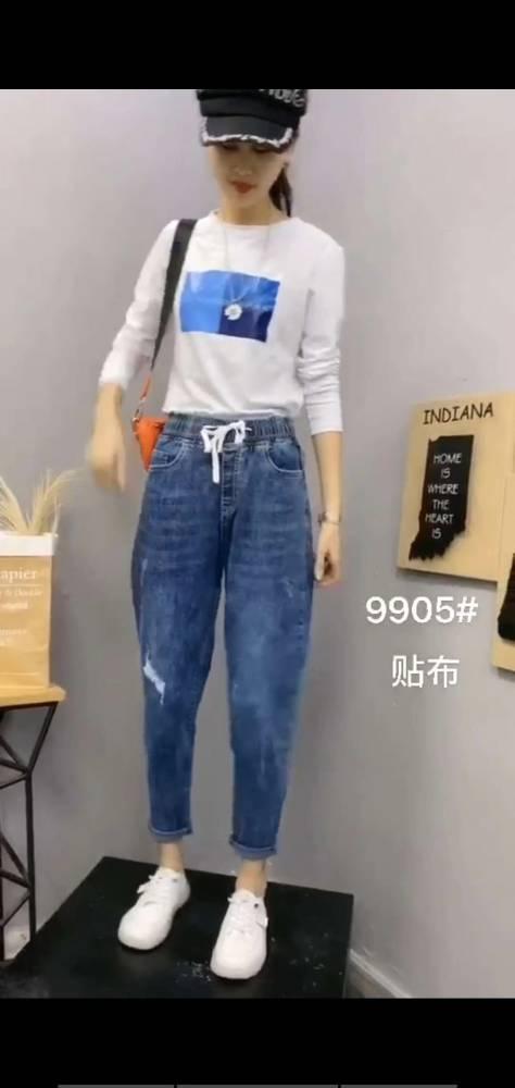 农村赶集女式牛仔裤批发 哪里有便宜牛仔裤