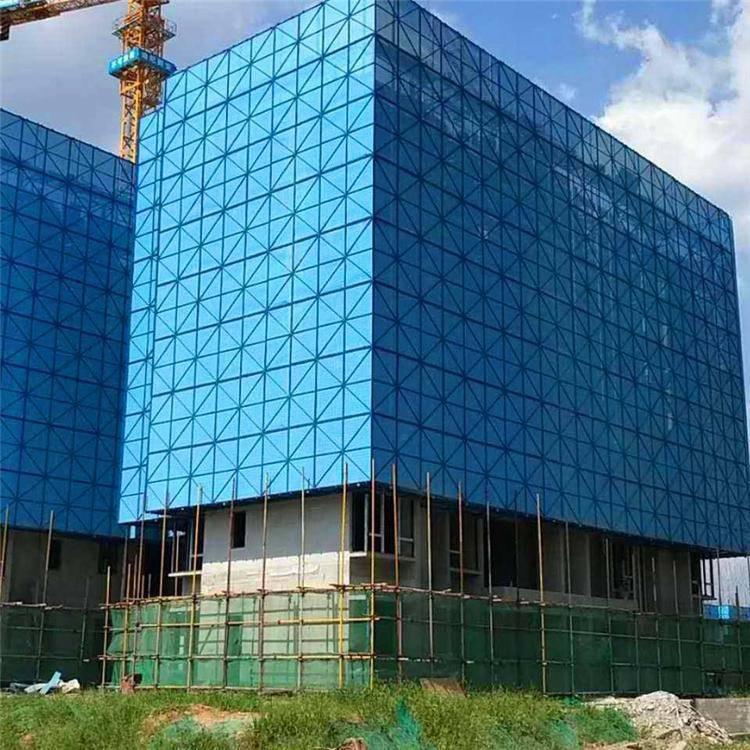 2018新产品楼房爬架网防护网厂家一米价格-安平优盾材质镀锌管建筑用圆孔