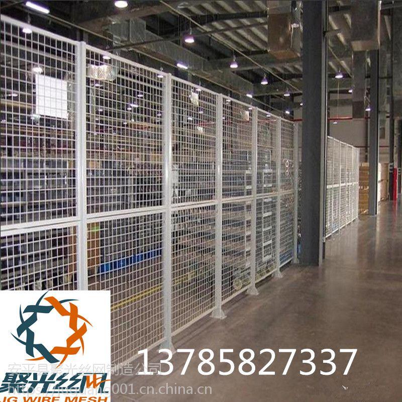 车间铁丝网隔离推拉门 仓库铁丝网围栏网 室内隔断护栏网 车间护栏网