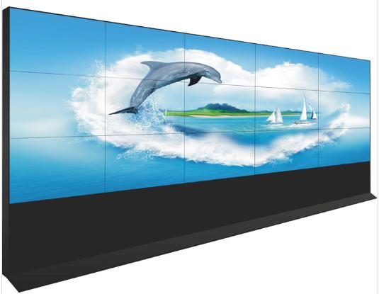 中创联合壁挂式拼接屏 落地机柜拼接电视墙 47寸LG原装屏监控显示屏拼接