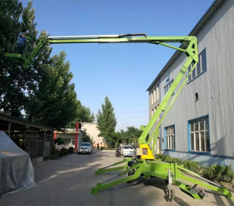 18米折臂式高空作业车 柴油机动力液压旋转升降平台制造商