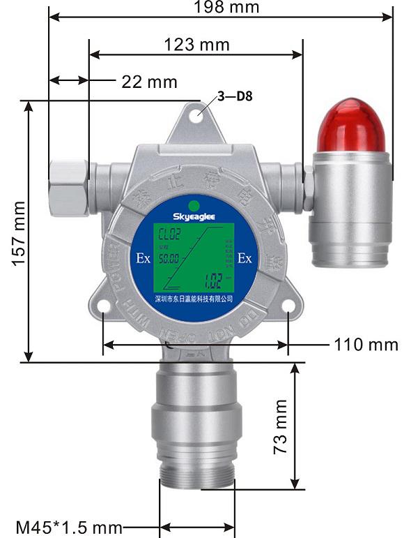 工业在线连续监测氨气气体报警器