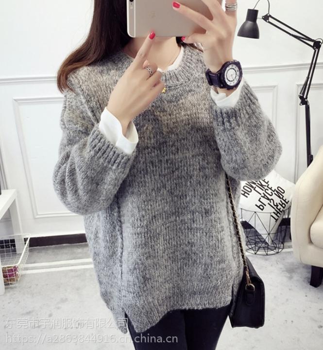 广州便宜毛衣批发韩版时尚女士羊毛衫套头毛衣批发几元毛衣清货