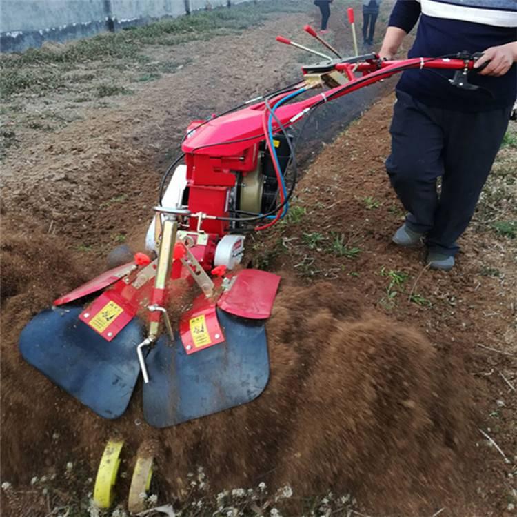 地瓜种植开沟培土机 农用手扶式柴油开沟机 圣鲁牌