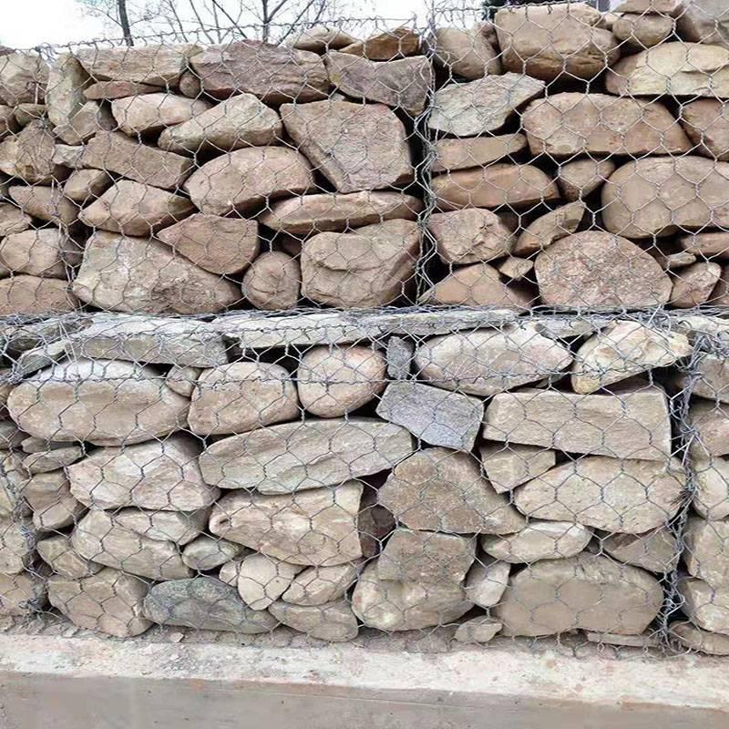 云南生态镀锌钢丝笼|防洪石筐网|装石头网箱石笼网