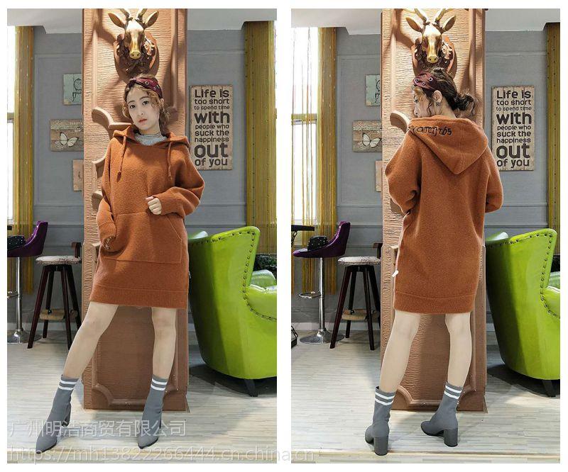 2017年新款羊驼绒大衣品牌服饰折扣店批发货源 折扣服装 尾货女装