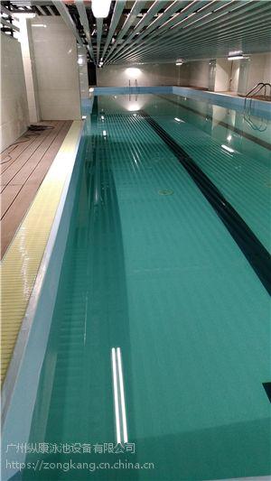 湖州市别墅会所私人钢结构组装式PVC游泳池/广州纵康游泳池设备