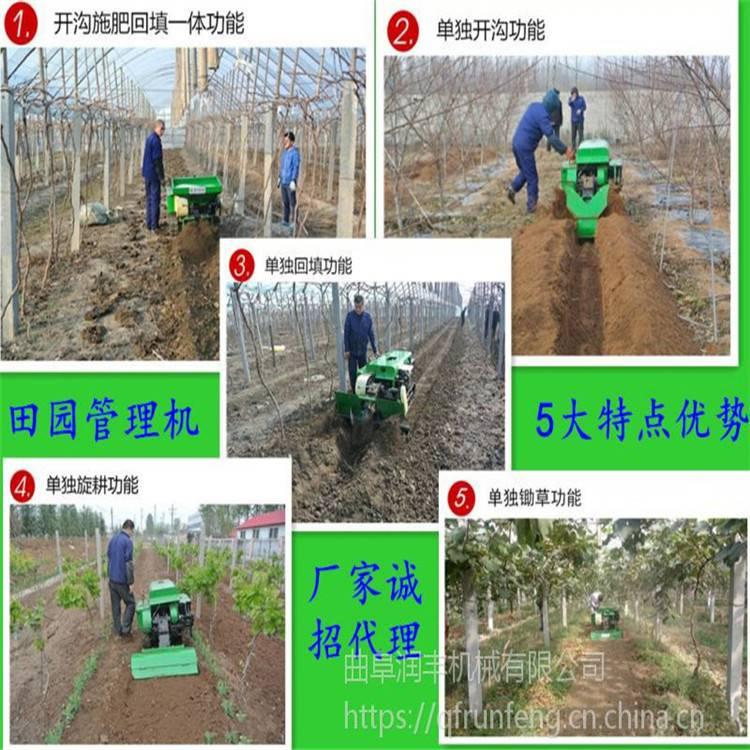 四川履带式开沟施肥机 苹果园果树施肥开沟一体机润丰供应