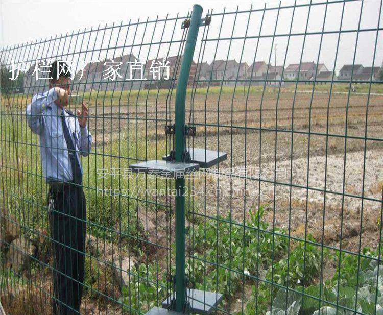 小区护栏网 铁路护栏网 工地施工双边丝防护栏价格