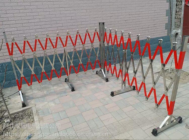 双冠牌不锈钢拱门式伸缩围栏 电力绝缘围栏隔离门生产厂家