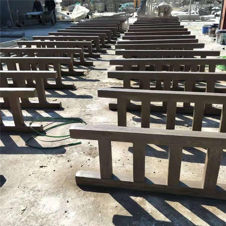 日照厂家出售交仿木交叉护栏 水泥仿木护栏 水泥仿石栏杆