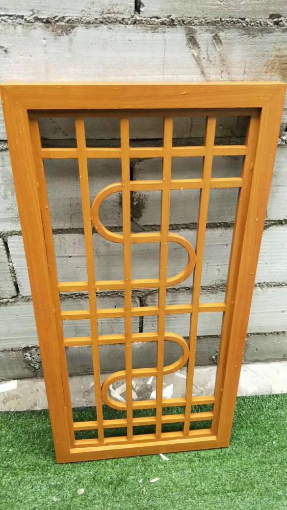 安徽蚌埠木纹铝窗花 花园装饰复古铝窗花